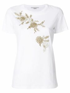 Stella McCartney beaded floral T-shirt - White