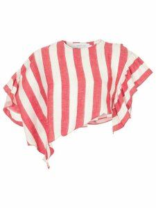 Marques'Almeida asymmetric striped cropped top - Red