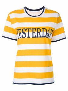 Alberta Ferretti striped T-shirt - Yellow