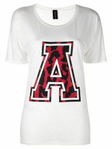 Alexandre Vauthier varsity style T-shirt - White