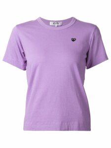 Comme Des Garçons Play embroidered heart T-shirt - PURPLE