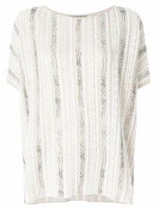 Ermanno Scervino oversized slouchy T-shirt - NEUTRALS