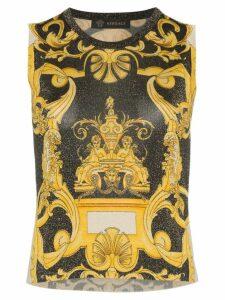 Versace Barocco sleeveless knit top - Black