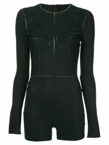 Maison Margiela long-sleeve fitted bodysuit - Black