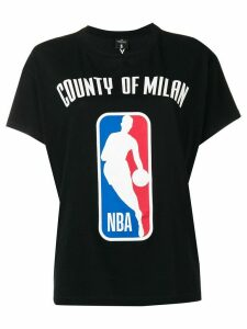 MARCELO BURLON COUNTY OF MILAN logo NBA T-shirt - Black