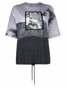 Opening Ceremony contrast print short-sleeve T-shirt - Black