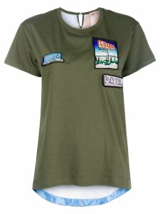 Nº21 Motel motif T-shirt - Green