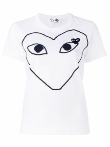 Comme Des Garçons Play printed heart T-shirt - White