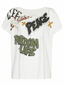 Faith Connexion freedom life peace t shirt - White