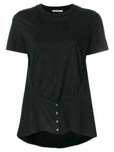 T By Alexander Wang button detail T-shirt - Black
