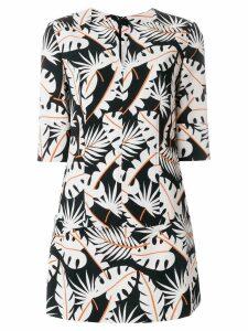 Talbot Runhof jungle print tunic - White