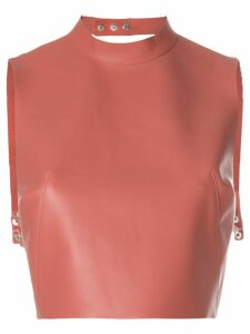 Manokhi sleeveless crop top - PINK