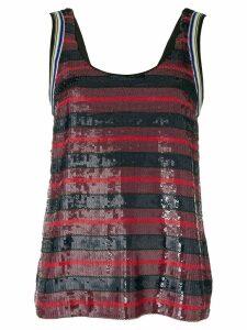 3.1 Phillip Lim stripe embellished vest top - Multicolour