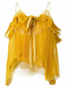 Rochas pleated bow cami - Yellow
