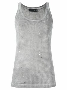 Dsquared2 microstudded tank top - Grey
