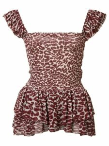 Piamita leopard print top - Red