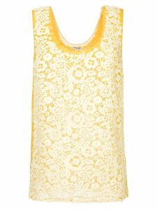 Miu Miu lace tank top - Yellow