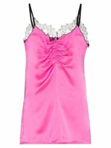 Helmut Lang sleeveless lace trim cami slip top - Pink