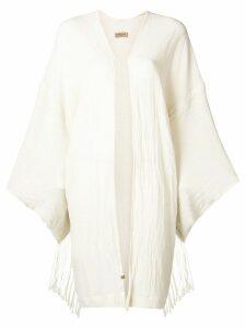 Caravana long sleeve open vest - White