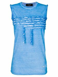 Dsquared2 ruffle-trimmed tank top - Blue