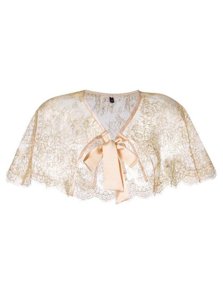 Gilda & Pearl 'Audrey' lace cape - Yellow & Orange