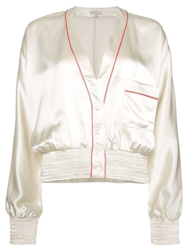 Morgan Lane Varsity jacket - White