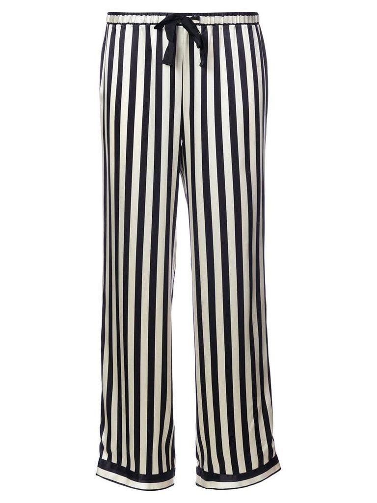 Morgan Lane striped pyjama pants - Black