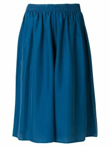 Mes Demoiselles wide leg pleated shorts - Blue