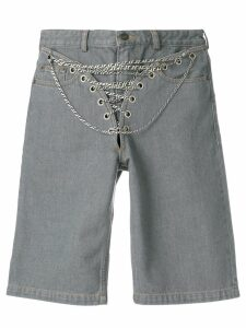 Y/Project chain detail denim short - Grey