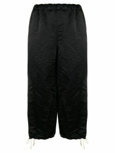 Comme Des Garçons Girl wrinkled knee-length shorts - Black