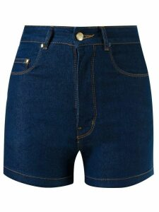 Amapô high waist denim shorts - Blue
