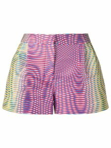 Mary Katrantzou Zeta optic moire print shorts - Multicolour