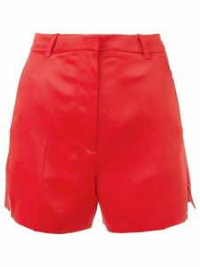 Mugler high waisted shorts - Red