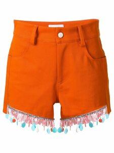 Au Jour Le Jour beaded trim shorts - ORANGE