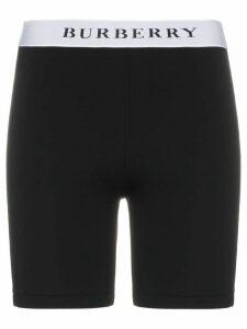Burberry logo stretch jersey shorts - Black
