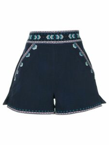 Talitha embroidered tailored shorts - Blue
