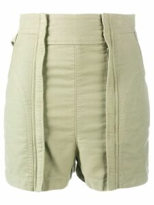 Chloé high-waisted shorts - Green