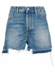 Marcelo Burlon County Of Milan ripped shorts - Blue