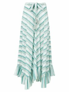 Zimmermann striped maxi skirt - Green