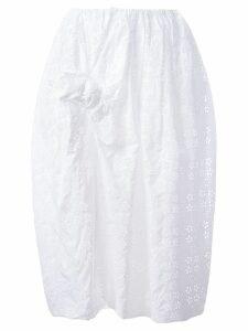 Simone Rocha front bow eyelet skirt - White