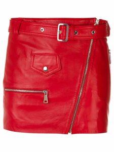 Manokhi belted short skirt - Red