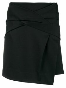 Helmut Lang asymmetric mini skirt - Black