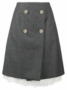 Calvin Klein 205W39nyc front button wrap skirt - Grey