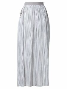 Lorena Antoniazzi striped maxi skirt with sequin star details - White