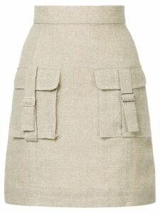 Bambah Sparkle cargo skirt - Brown