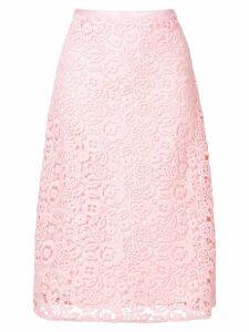 Miu Miu floral crochet midi skirt - PINK