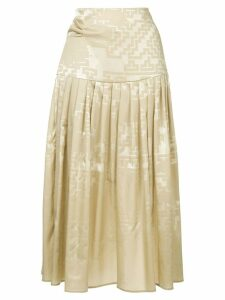 Nehera Sofy pleated skirt - Brown