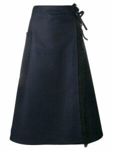 Sofie D'hoore fringed wrap skirt - Blue
