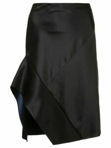 Narciso Rodriguez contrast trim asymmetric skirt - Black