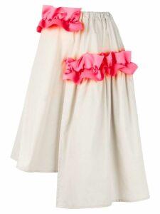 Paskal 'Ruffle Detail' asymmetrical skirt - NEUTRALS